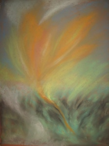 'Out of the Storm'    soft chalk pastel   2012 #10