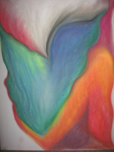 'Layers'   chalk pastels   2013 #37