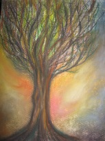 'NEW DAWN' 11x14 chalk pastels 2012 Donation to Bailey Boushay seattle